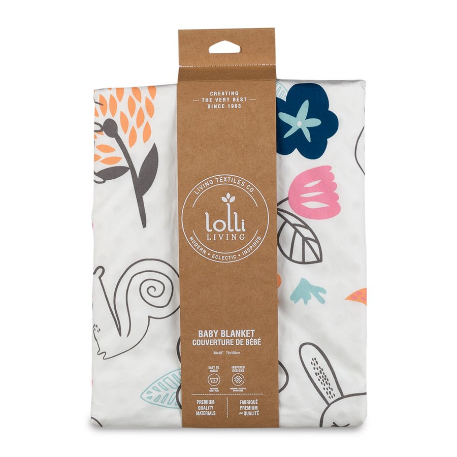 Baby Stroller Blanket w/ Sherpa - Stella | Living Textiles Co.