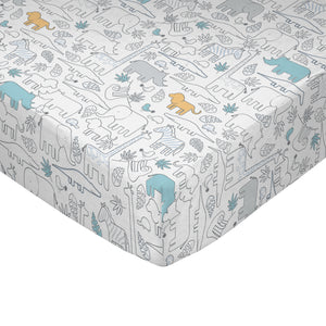 Crib Fitted Sheet - Safari