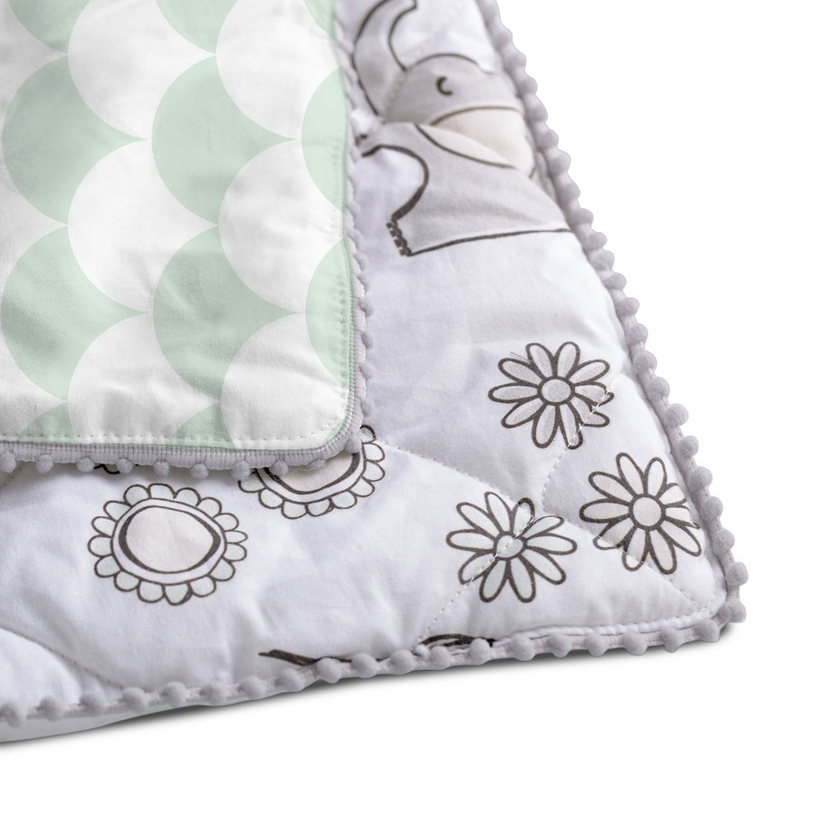 Baby/Toddler Quilted Comforter- Kayden Elle Elephant | Living Textiles Co.
