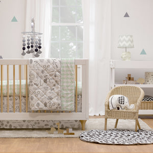 4pc Crib Bedding Set - Kayden Elle Elephant