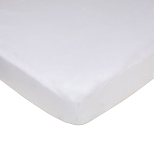 Crib Fitted Sheet - White Jersey