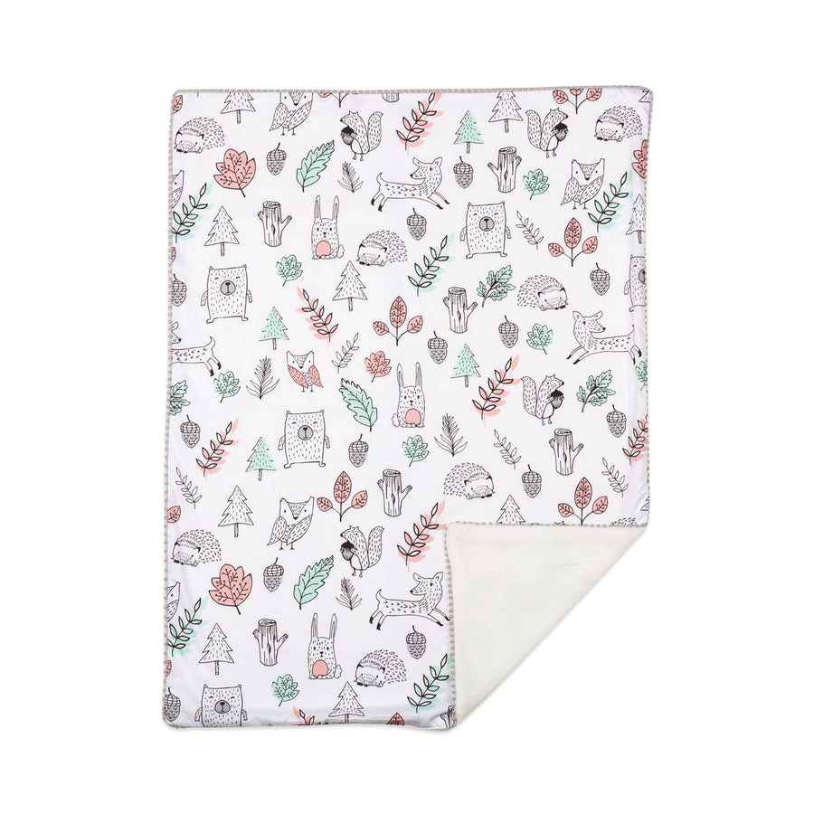 Kayden Baby Blanket w/ Sherpa - Woodlands | Living Textiles Co.