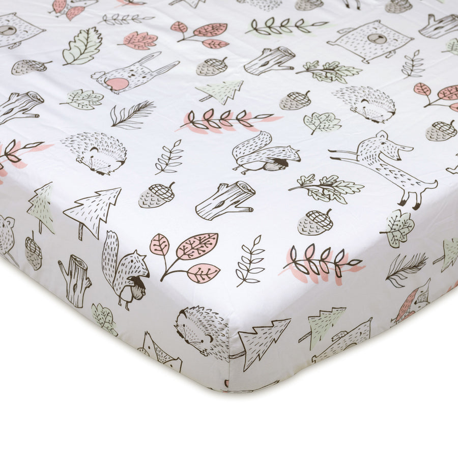 Crib Fitted Sheet - Kayden Woodlands