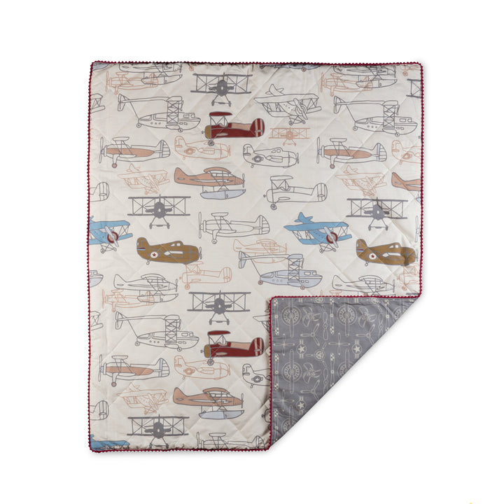Baby Quilt Comforter - Aeroplanes | Living Textiles Co.