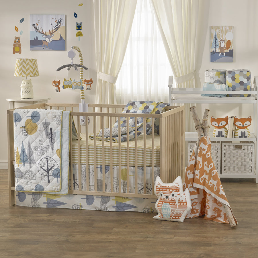 Baby Quilted Comforter - In The Woods | Living Textiles Co.