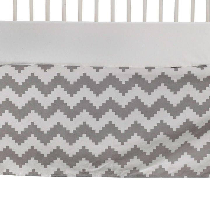 Crib Bed Skirt - Aztec Chevron - Living Textiles Co.