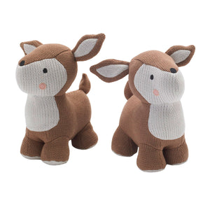 Knitted Bookend Friends - Deer - Living Textiles Co.