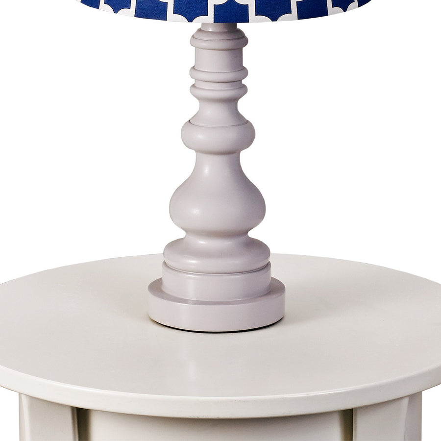 Lamp Base - Grey Spindle - Living Textiles Co.