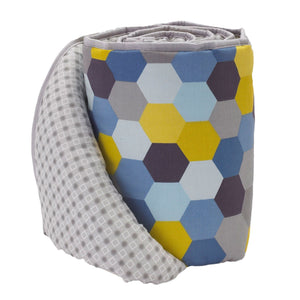 Hexagons Crib Bumper - Living Textiles Co.