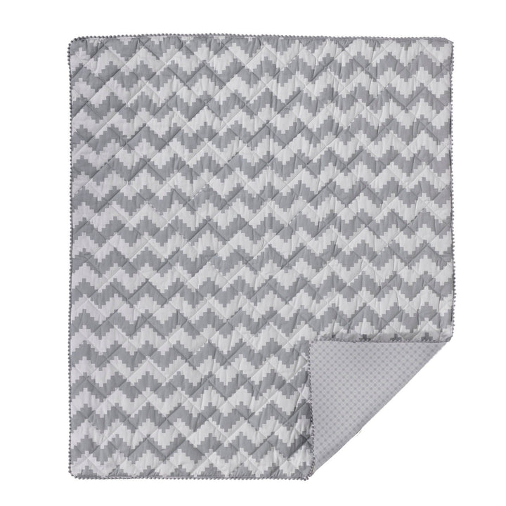 Baby Quilted Comforter - Aztec Chevron - Living Textiles Co.