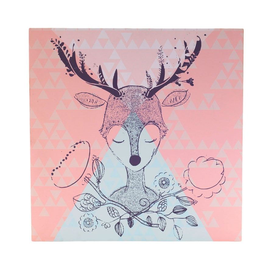Creative Baby Shower Gifts | Canvas Art - Sparrow Deer | Living Textiles Co.