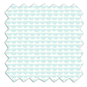Fabric - Mint Scallop - Living Textiles Co.
