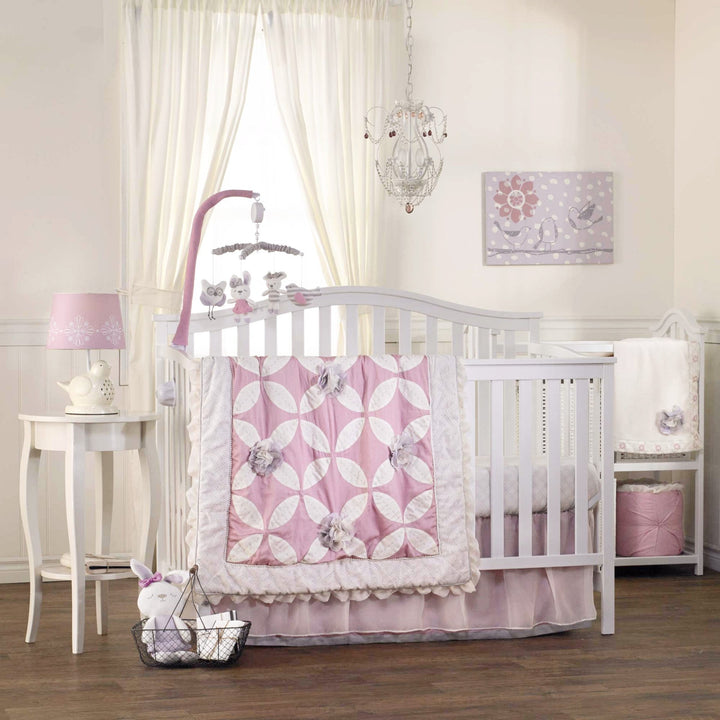 5pc Crib Bedding Set - Violet - Living Textiles Co.