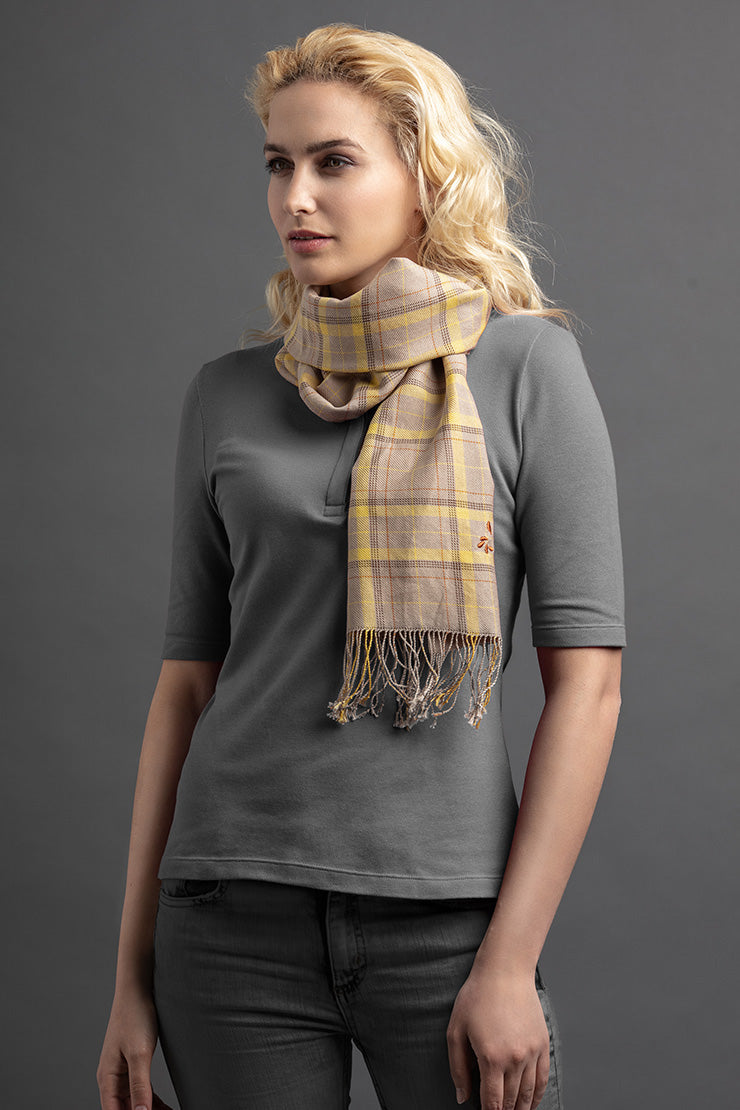 Women's Lati Polo And Scarf