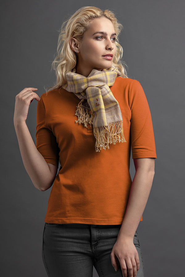 Women's Lohé Polo And Scarf