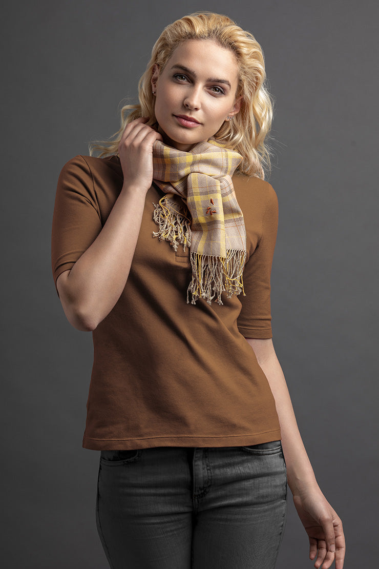Women's Laman Polo And Scarf