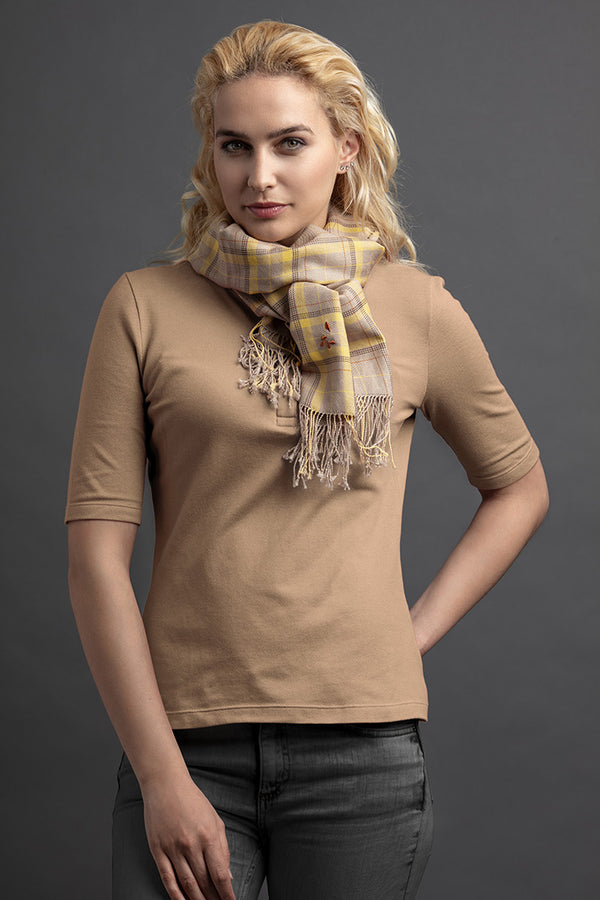 Women's Lere Polo And Scarf