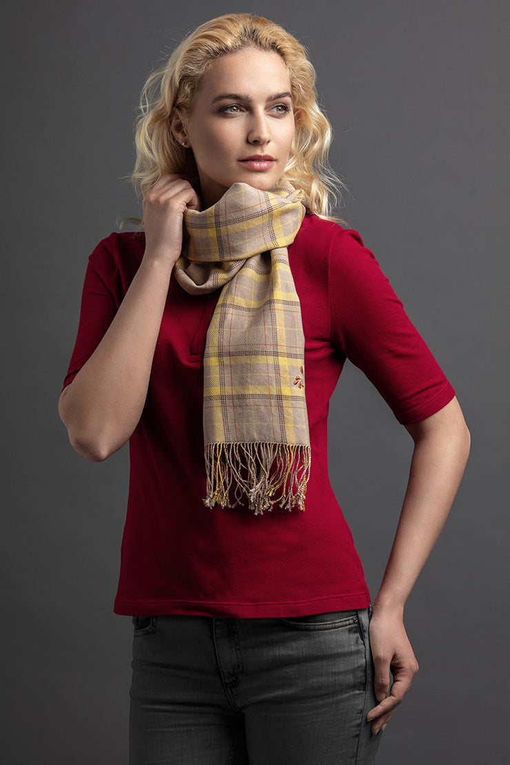 Women's Laok Polo And Scarf