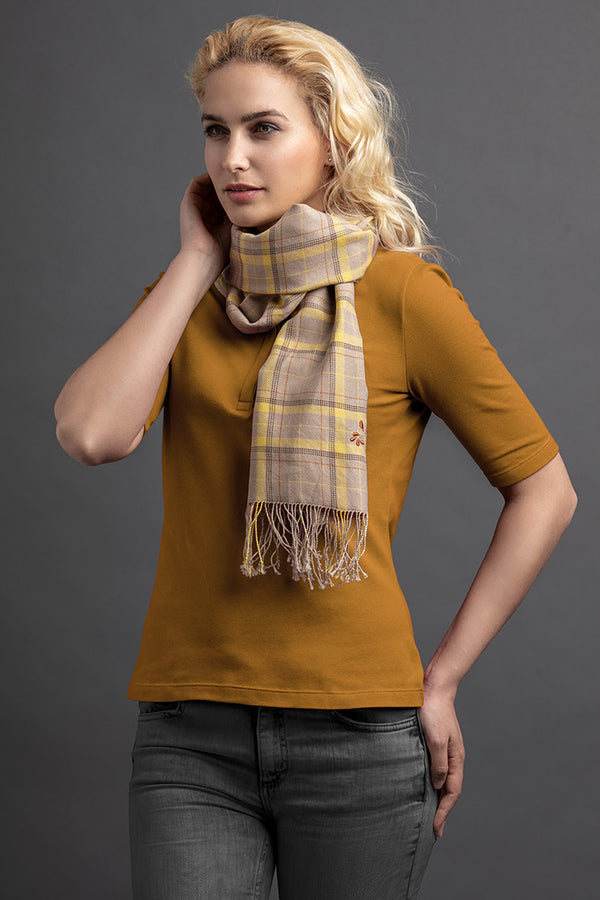 Women's Lohe Polo And Scarf