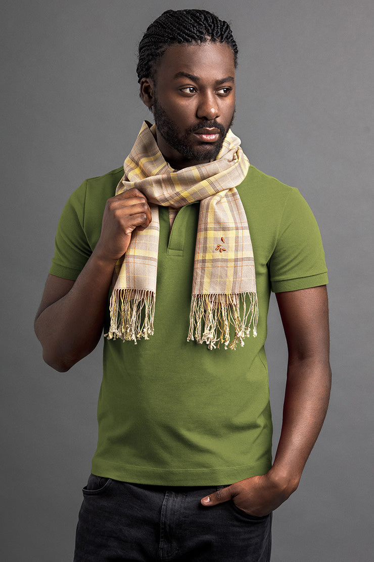 Men's Lelem Polo And Scarf