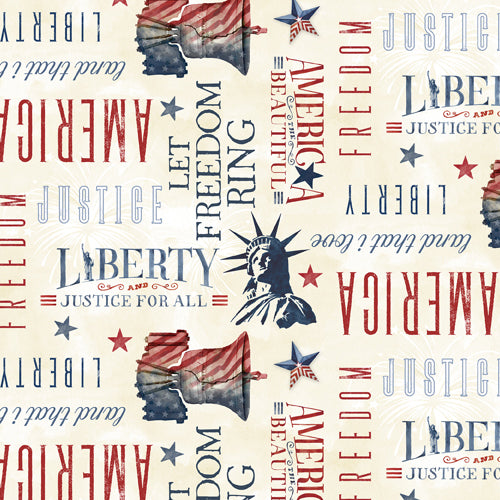 Liberty Lane Word Toss Cream 84458-230