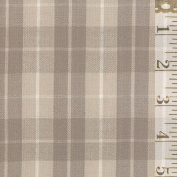 Pure & Simple Medium Plaid Taupe 12131 22