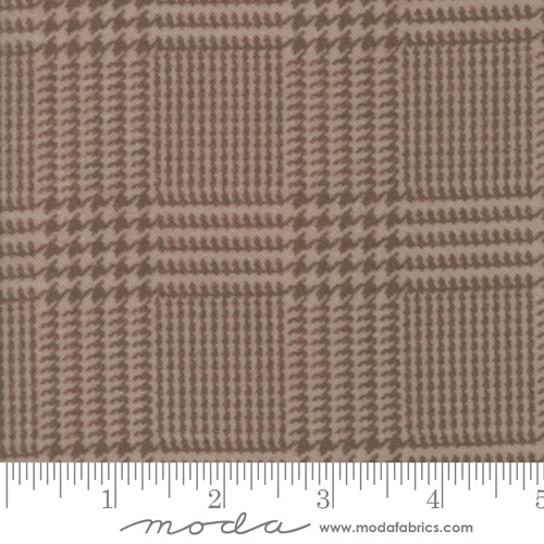 Wool Needle Herringbone Plaid Sand Flannel 1253-12
