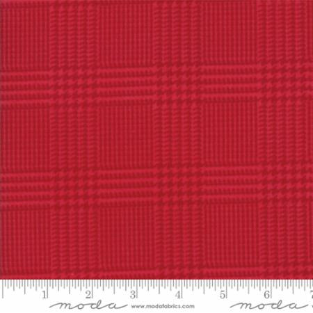 Wool Needle Herringbone Plaid Hibiscus Flannel 1253-29
