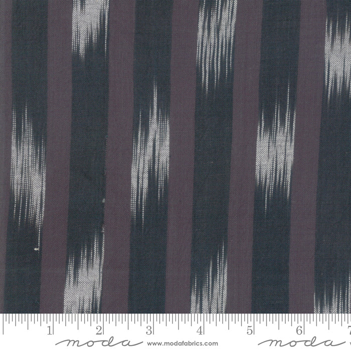 Boro Foundations Large Intermittent Stripe Charcoal Fabric (12561 43)