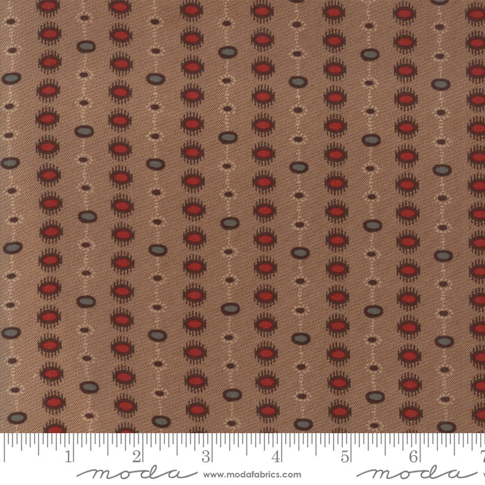 Hickory Road Dotted Stripe Brown 38064 14