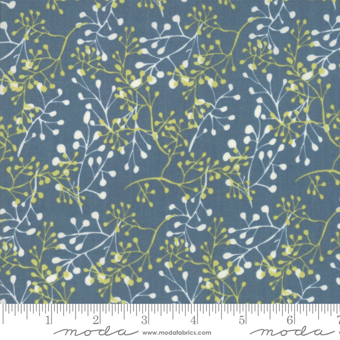 Painted Meadow Little Sprigs Teal Fabric (48663 12)