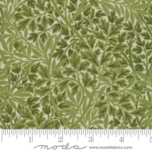 Morris Holiday Reproduction 1899 Foliage Light Green 7317 12M