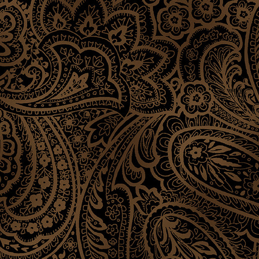 "Radiant Paisley Chestnut 108"" Wide Backing 9747W77"