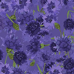 Sunny Fields Bachelor Buttons Purple Y3030-27
