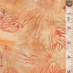 Batik Drawn Flower Orange 6229