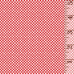Printology Checkerboard Red 07536-10