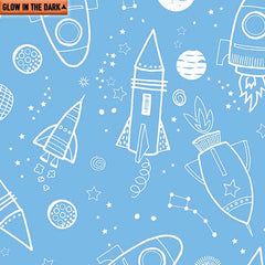 All Systems Glow Outer Space Sky Blue 7953GL50B