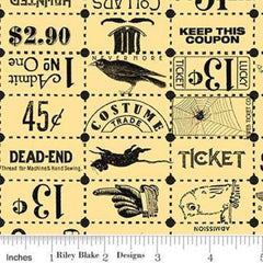Costume Makers Ball Ticket Grid Yellow (8369)