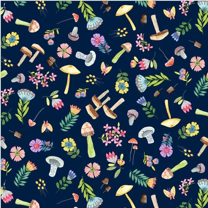 Woodland Whimsy Navy DC9770