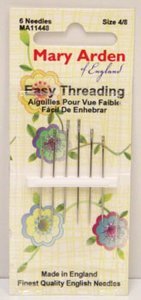 Mary Arden Easy Threading Needles Assorted Sizes 4/8