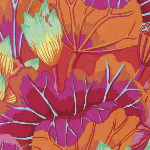 Kaffe Lake Blossoms Magenta Fabric (GP093.MAGEN)
