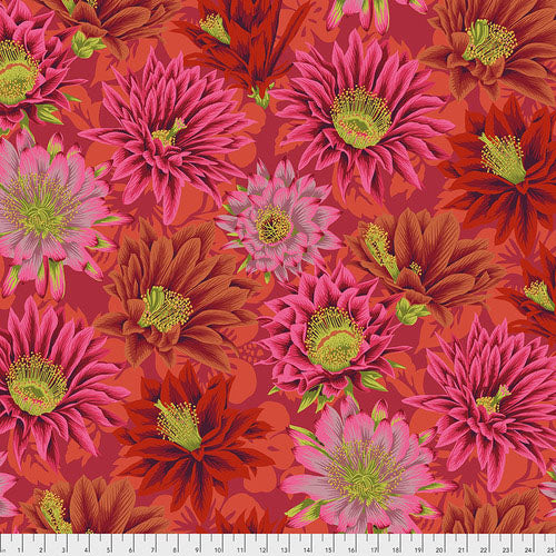 Kaffe Collective Cactus Flower Red Fabric (PJ096.RED)