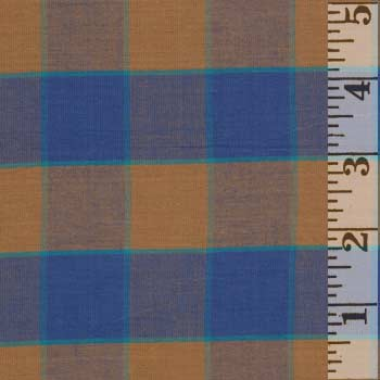 Kaffe Artisan Checkerboard Plaid Ikat Blue