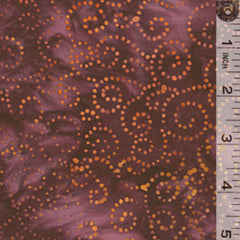 Java Batik Swirls Gold Violet
