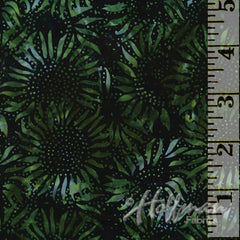 Bali Chop Batik Sunflower Black/Jade 884-216