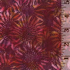 Hoffman Batik Sunflower Burgundy 884-38