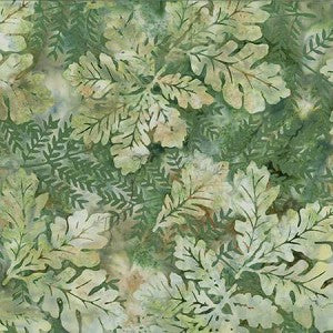 Bali Batik Oak Leaves Pine Fabric (R2232-141)