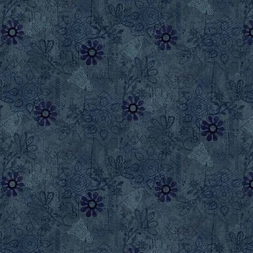 Scrap Happy Mixed Media Solid Navy  2615-77