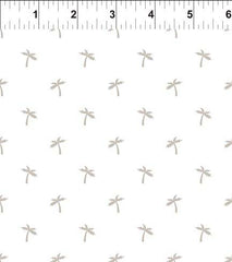 Mini Tropicals Teeny Palms Taupe Fabric (15MT1 2)