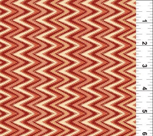 Mini Ikats Zigzag Rust 8MI-1